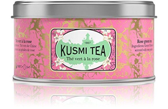 (KUSMI TEA) クスミティー ローズ グリーンティー 125g缶 [正規輸入品]