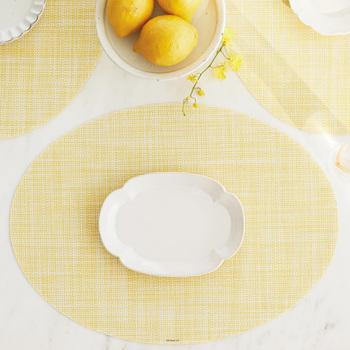 人気のチルウィッチのランチョンマット。モダンで洗練されたデザインが多いチルウィッチですが、こちらのデザインだとやさしい雰囲気で、普段の食卓にも使いやすいですね。レモンカラーが春らしくて◎