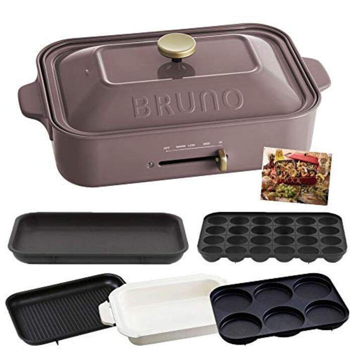 BRUNO ブルーノ コンパクトホットプレート 本体 プレート5種