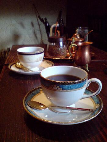 コーヒーはストレートだけでもかなりの豆の種類から選べます。迷ってしまう方は但馬屋オリジナルブレンドがおすすめ◎しっかりとした風味と少しの苦味で大変飲みやすいです。