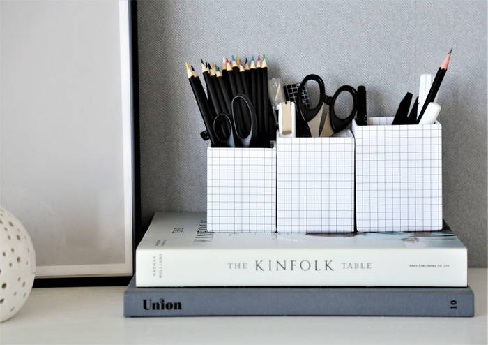 お気に入りの素敵なペン立てがあれば、仕事や勉強のときの気分も上がりますよね。さらに使いやすいものなら、作業の効率もアップ!
