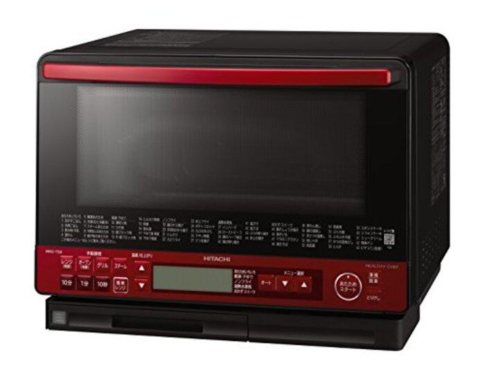 日立 スチームオーブンレンジ 31L トリプル重量センサー 過熱水蒸気 ヘルシーメニュー ワイド&フラット庫内 外して丸洗いテーブルプレート MRO-TS8 R