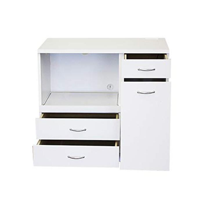 収納家具のイー・ユニット ダストボックス付きキッチンカウンター