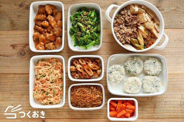 【作り置き入門】料理を日持ちさせるコツと1週間の献立表