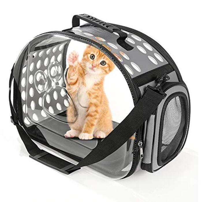 折りたたみ ペットキャリーバッグ 猫 子犬 高通気性 持ち運びに便利 お出かけ用 展開サイズ:42×32×28cm ANBURT (展開サイズ:42×32×28cm)