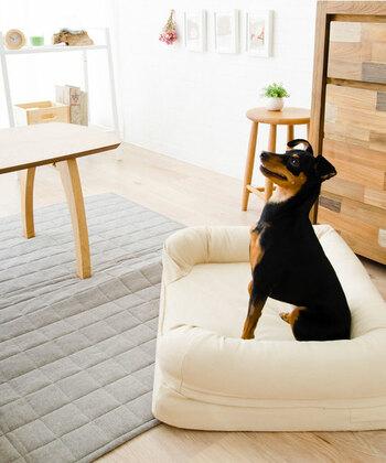 まくら一体型の3Dソファベッドは、犬の習性を研究し作られています。高反発のウレタンフォームで体圧分散した、快適が寝心地。静電気が発生しにくく、丈夫で破れにくいオックスフォード生地を使用しています。