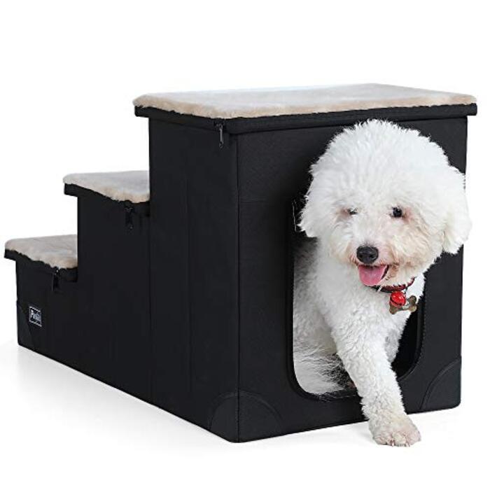 petsfit  犬猫用品 組立式ステップ ドッグステップ 3段 収納便利