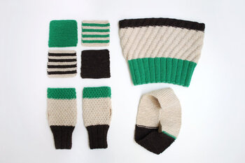 ガーター編みのコースターを編んで,基本の編み方を覚えます。次は基本の編み方を使ってヘアバンドやネックウォーマーなどに挑戦。自信がついたら、さらにステップアップ!