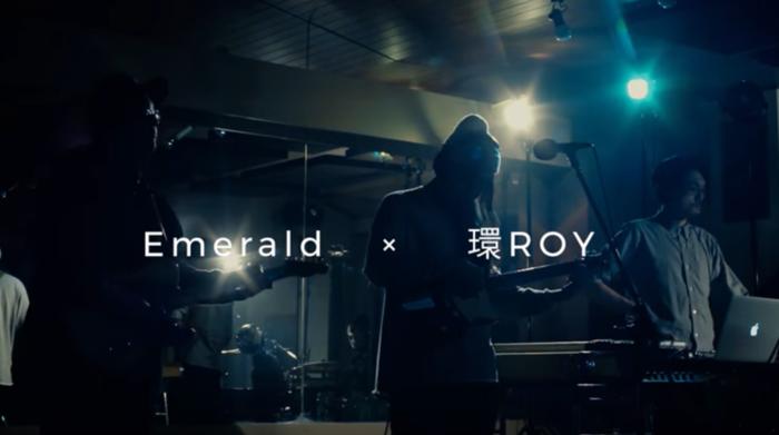 こちらはラッパーの環ROYとのコラボレーションライブの様子。浮遊感のあるサウンドと心地よい歌声に、思わず体が揺れ出してしまう人も多いはず。