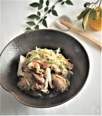 レバーをカラッと揚げて、たっぷり野菜と南蛮漬け。聞くだけでも、モリモリ食べられそうですね♪