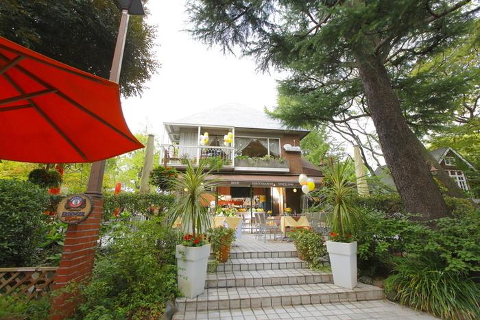 日比谷公園内にある「HIBIYASAROH (ヒビヤサロー)」は1949年創業の老舗ガーデンレストラン。都会の真ん中にいることを忘れてしまうような、ゆったりとした時間を過ごすことができます。