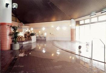 温泉は内湯と露天風呂が1つずつ。熱すぎないお風呂でゆっくり浸かっていられます。脱衣所も広くて快適です。