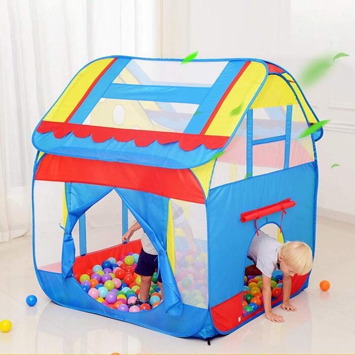 子供用テント おもちゃハウス ワンタッチ折り畳み式 両とびら型 Kid Tent By FRMARCH