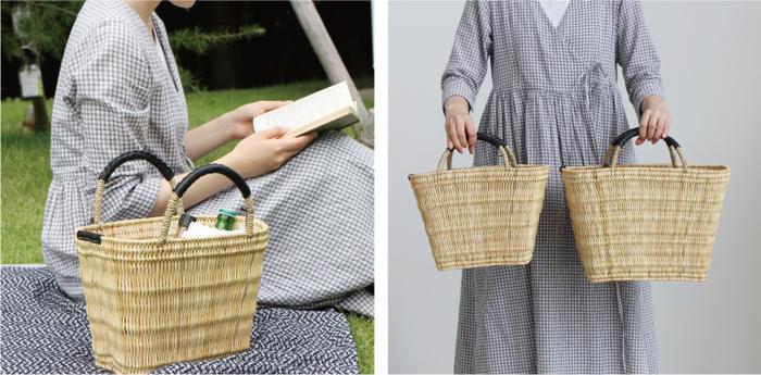 ナチュラルな雰囲気いっぱいのストロー素材のかごバッグ。Mサイズならたっぷりと入るので、保温ポットだけでなくお茶やお菓子なども一緒にイン。「warang wayan」はモロッコ在住の石田雅美さん、そしてバリで活躍されている土屋由里さんによって2000年に生まれたブランドです。