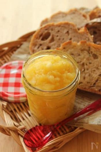 さつまいものほっくりとした甘さに、りんごの酸味が絶妙にマッチ!パンやパンケーキに乗せれば、爽やかなティータイムに。