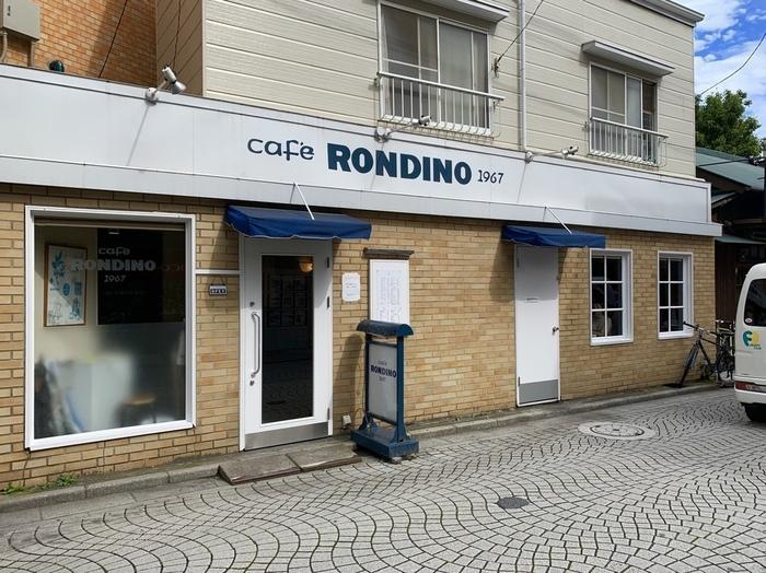 鎌倉西口の御成商店街入り口すぐに佇む「カフェ・ロンディーノ」。知る人ぞ知る、鎌倉の重鎮的存在のカフェです。