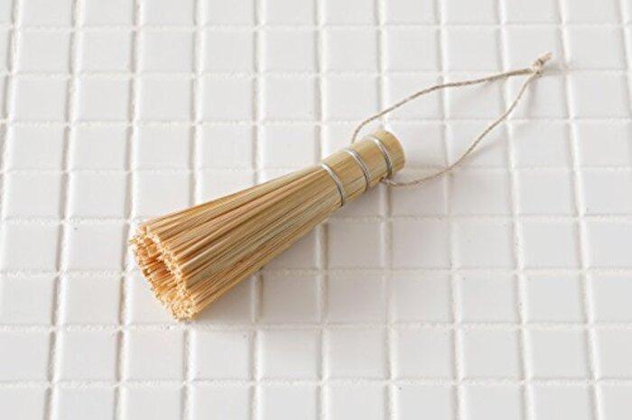 【かごや】紐付き 竹製ササラ 12cm(7070)