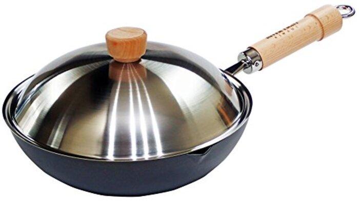 リバーライト 炒め鍋 極 ジャパン 蓋付セット 28cm 8130-000246 中華鍋