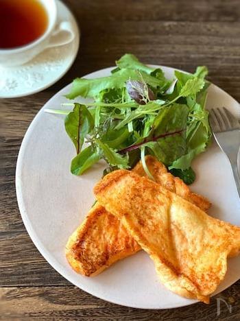 甘さと塩気が融合した甘じょっぱい明太フレンチトースト。程よくコクがあって癖になる味わいです。