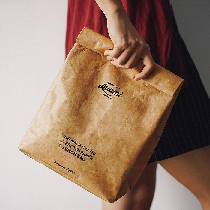再利用可能 ブラウンペーパーランチバッグ