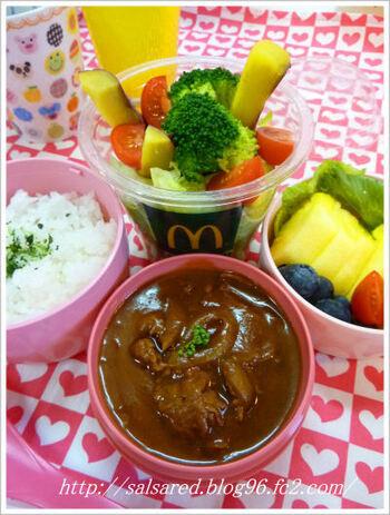 スープを保温できるランチジャーや、保温・保冷エリアに分かれたランチジャーなら、シチューとご飯、フルーツなどそれぞれおいしい状態で食べられますね。
