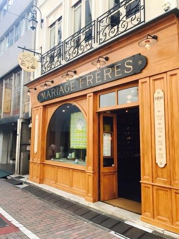 続いては、1854年創業のフランスの紅茶専門店「マリアージュフレール」の銀座本店をご紹介。銀座駅地下鉄A1出口から徒歩2分ほどです。