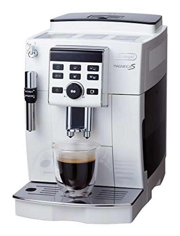 【スタンダードモデル】デロンギ コンパクト 全自動 コーヒーメーカー ホワイト マグニフィカS