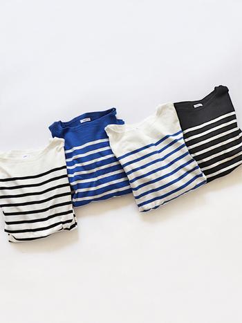 永遠の定番アイテム「ボーダーTシャツ」。年齢や性別を問わず、世代を超えて愛されてきたファッションアイテムですよね。きっとだれもが一枚は持っているのではないでしょうか?