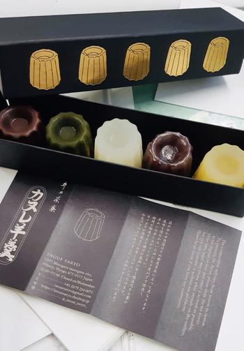 オーナーがパティシエの経験を活かした和菓子を作りたいと考案したそう。定番の「焙じ茶× 抹茶」は、それぞれに茶葉の風味いがしっかり感じられ、洋風の見た目とは異なる味わいが魅力です。