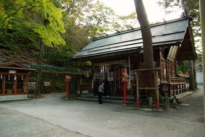 もともとは山岳信仰とされ、別の場所にあったようですが平安時代ごろの記録では、伊香保の地に移っていたと言われています。大きな木々に囲まれた社殿には、地元の方も多く訪れています。