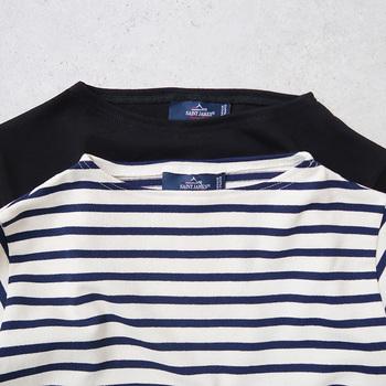 1980年に、マリンスタイルの火付け役として、ボーダーシャツブームを広めた「SAINT JAMES(セントジェームス)」。老舗のカジュアルブランドとして、男女を問わずに幅広い世代から支持されている人気ブランドです。