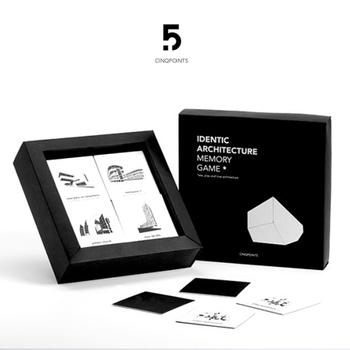 現代建築を遊びながら学べるこちらは、現代建築をモチーフにしたさまざまなアイテムを展開しているCinqpoints(サンク・ポワン)のメモリーカード。