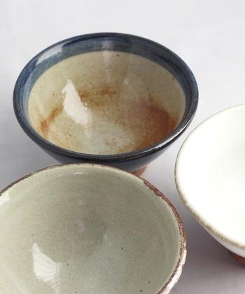 「見込み」はうつわの内側の部分で、食べ物や飲みものを直接盛りつけるところです。内側に施された色絵や釉薬が垂れている様子を楽しんだりします。