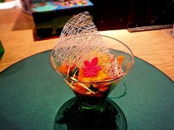 懐石カフェ・蛙吉(アキチ)で提供されるお料理は、京懐石らしく美しく盛られています。味はもちろんのこと見た目の美しさはカメラに収められずにはいられない程です。