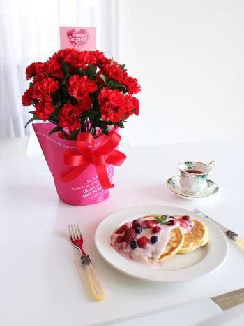 お花のお世話が苦手なお母さんへは、枯れることのないカーネーションを贈ってみてはいかがでしょう。プリザーブドフラワーや造花でできたアレンジメントなら、ずっと鮮やかなままのカーネーションを飾っておけますよ♪