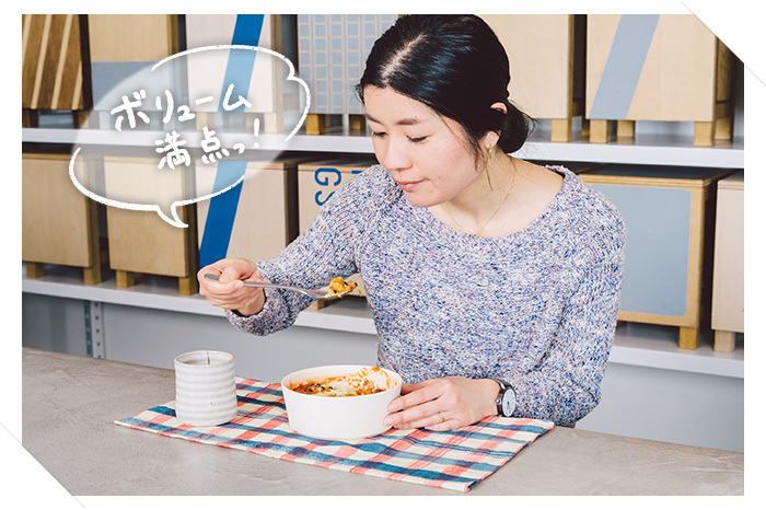 「サバのカレー風味リゾット」をお試しいただいたのは、空間デザイナーの福宏巳さん。