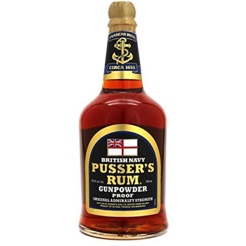 パッサーズ ブリティッシュネイビーラム ガンパウダープルーフ 54.5% 700ml Pusser's British Nave Rum Gunpowder proof 54.5% [ ラム ]