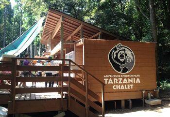 千葉県房総台地のスパリゾート「リソルの森」内にある「ターザニア」は、専用のハーネスをつけて樹の上を空中移動していくフォレストアドベンチャーを思いっきり体験できる場所。
