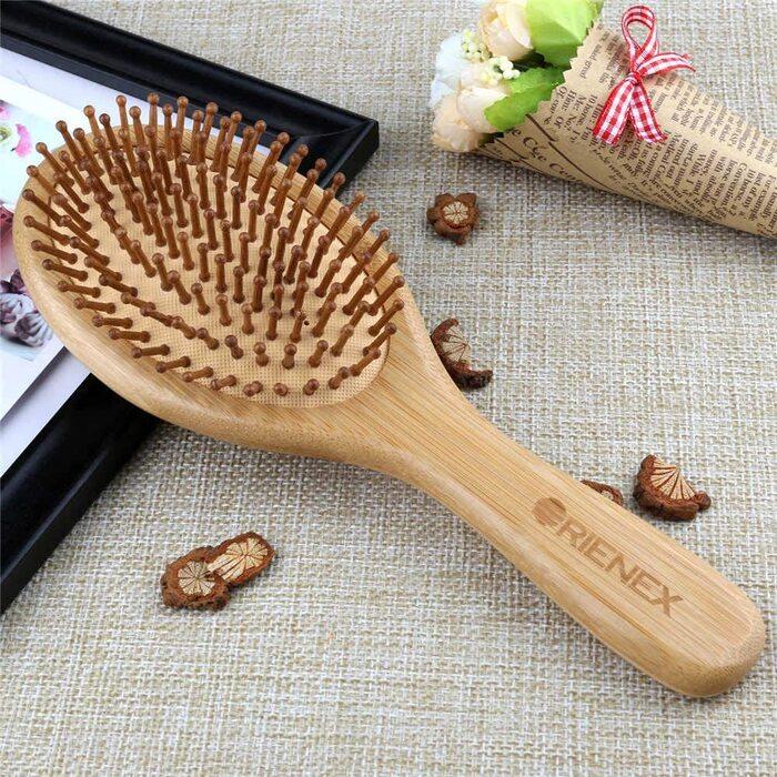 Orienex ヘアブラシ ヘアケア 木製 頭皮 マッサージ 艶髪 木製櫛 美髪ケア