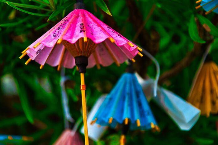 松陰神社には、少し珍しい和傘の形をしたおみくじがあります。参拝の記念に和傘の形をした可愛らしいおみくじを引いてみるのもおすすめです。