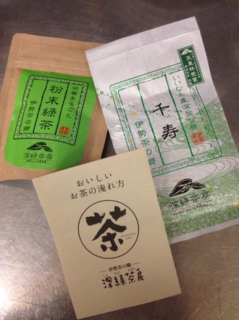 オンラインショップでは、自社の茶園で採れたお茶を使用したこだわりの伊勢茶を販売中。急須で淹れるリーフタイプ、気軽に使えるティーバッグタイプ、さらに季節限定の商品や、お一人様用の最上級茶もあります*自分へのご褒美にいかがでしょうか?