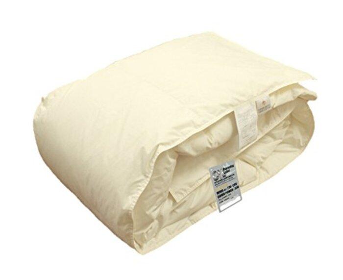 ハンガリー産ホワイトダウン93%使用 日本製 羽毛肌布団 (ダウンケット)/セミダブル