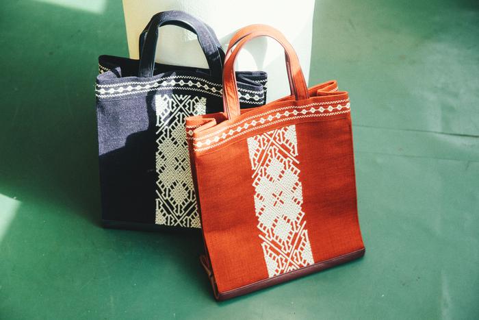人気のショッピングバッグ。総刺しや模様の追加など、ほとんどの製品がセミオーダー可