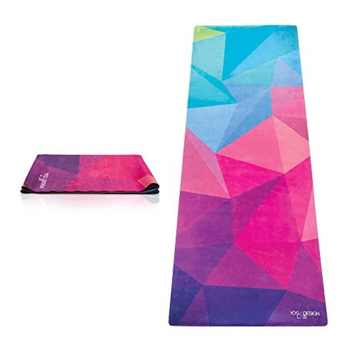 Yoga Design Lab (ヨガデザインラボ) ヨガマット 厚さ1mm トラベルマット 折りたたみ ストラップ付/ゲオ