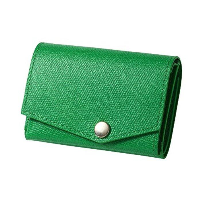 「abrAsus」小さい財布 グリーン