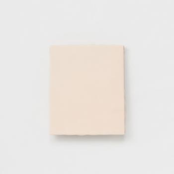 一見真っ白なただのキャンバスに見えますが、こちらはキャンバスをレザーで制作し、レザーの風合いが変化するさまを作品としたキャンバスです。エンダースキーマらしい遊び心のある作品です。
