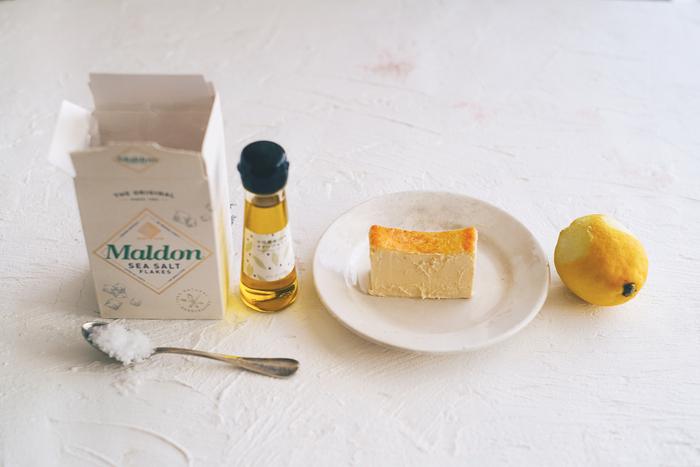 このアレンジではチーズケーキは冷たい状態がおすすめです◎冷凍のものを常温で30~60分程度おき、「半解凍」の状態にしてから試してみましょう♪