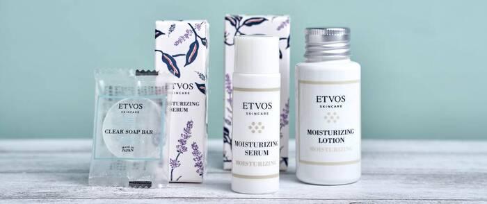 ボックスの中には、ETOVOSなど、有名スキンケアブランドのアイテムを厳選。今プロがおすすめする化粧品を試すことができます。