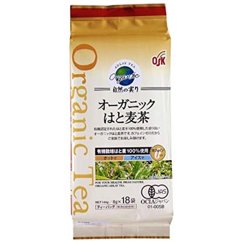 OSK(オーガニック食品)はと麦茶自然の実りティーパック(8g×18袋)×2個