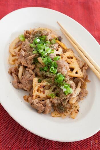レンコンと豚バラを炒める際の調味料は、減塩に一役買ってくれるケチャップとマヨネーズのみ。味付けの失敗もなく、減塩で作れる嬉しいレシピです。